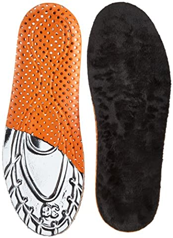 Salamander Professional Warm Footbed 8707043, Einlegesohlen, Mehrfarbig (schwarz/orange/silber 000), Größe (Fuß Warm Einlegesohle)