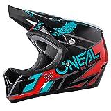 O'Neal Sonus Strike Fahrrad Helm All Mountain Bike DH MTB Downhill Freeride Fidlock Magnetverschluss, 0481, Farbe Schwarz Blau, Größe S