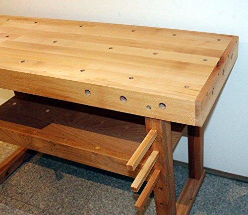 Hobelbank BUCHE Werkbank Holzwerkbank Werktisch Arbeitstisch mit Spannzange - 3