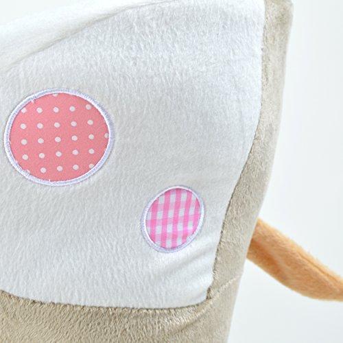 Pink Papaya Schaukeltier - Esel Pepe - Kinder und Baby Schaukelpferd, spezieller Schaukelstuhl für Kinder, mit Sound, Kopfhöhe ca. 50 cm, Sitzhöhe ca. 30 cm - 7
