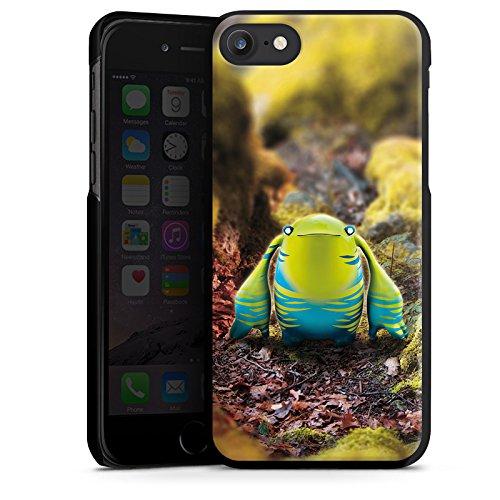 Apple iPhone X Silikon Hülle Case Schutzhülle Fabelwesen Fantasie Wesen Hard Case schwarz
