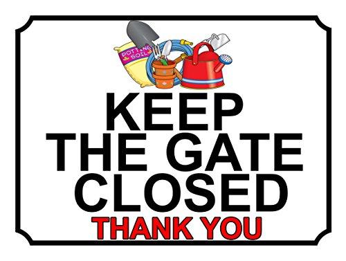SHAWPRINT halten Sie das Tor geschlossen Thank You, Zubehör, Metall, 200mm, 259h1l, 25,4cm x 20,3cm (Tor Geschlossen Halten Sie)