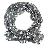 oversized Schal gepunktet, 1950s inspiriert, weicher, leichter Schal