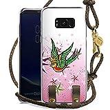 DeinDesign Samsung Galaxy S8 Plus Carry Case Hülle zum Umhängen Handyhülle mit Kette Schwalbe Bird Vogel