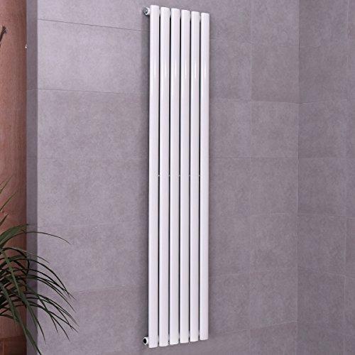 COSTWAY Design Paneelheizkörper Designheizkörper Heizkörper Badheizkörper Heizwand Heizung vertikal einlagig in vielen Größen weiß (1600*360mm)