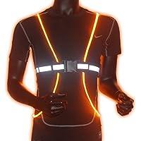 Reflektierende Led Einstellbar Warnweste Sicherheitsweste Unfallweste Hohe Sichtbarkeit Gürtel Fiber Optik für Jogging Laufen Radfahrer/ Arbeiten in Abend