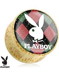 Playboy Bunny Logo de adultos de Argyle Print madera sillín enchufe