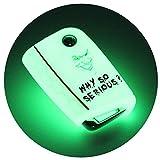 Schlüssel Hülle VB für 3 Tasten Auto Schlüssel Silikon Cover - Finest-Folia Schlüsselhülle Etui Schutzhülle (.Joker Nachtleuchtend)