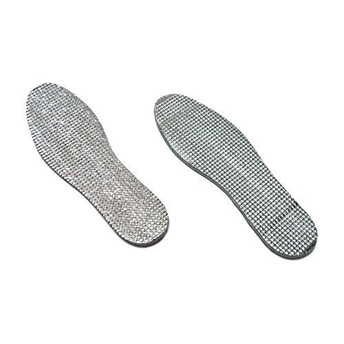 Preisvergleich Produktbild Alu Aluminium Einlegesohlen Schuheinlagen Einlagen Gr. 36 37 38 39 40 41 42 43 44 45 46 warm wärmend Thermo Fußwärmer Schuhsohlen Kälteschutz Nässeschutz