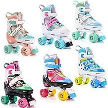 Jugend Rollschuhe Einstellbare Gr/ö/ße des Schuhs Kinder Quad Skate 5 Verschiedene Farbvarianten meteor/® Retro Rollschuhe: Disco Roller Skate wie in den 80er Jahren