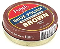 Brown Punch Shoe Care Polish 40Ml - Brown - UK SIZE 1