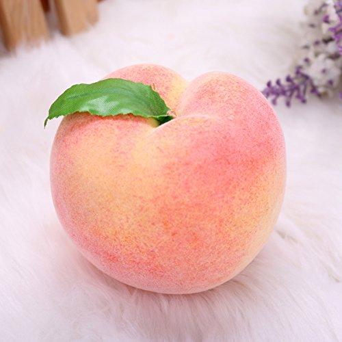Bluelover Puntelli di decorazione frutta falso della casa di verdure istruzione di stampo stampo artificiale Peach