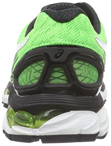 Asics Gel-Nimbus 17, Chaussures de Running Entrainement Homme Vert (Black/White 9001)