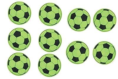 10 Stück Fußball Reflektor Sticker / Aufkleber für Kinder Schulranzen / Rad Auto by schenkfix