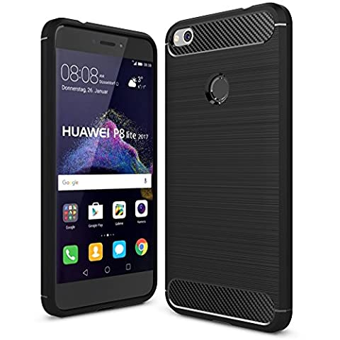 Coque Huawei P8 Lite Noir - ELTD Coque Huawei P8 LITE 2017, Silicone