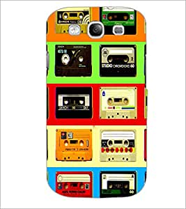 PrintDhaba Casettes D-4537 Back Case Cover for SAMSUNG GALAXY S3 (Multi-Coloured)