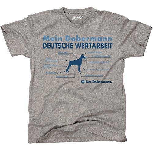 Siviwonder Unisex T-Shirt WERTARBEIT DOBERMANN TEILE LISTE Hunde lustig fun Sports Grey