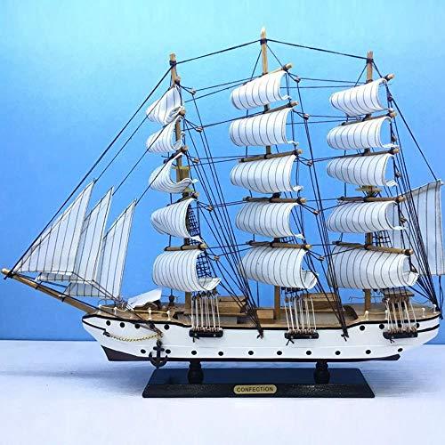 ZXX5211 60 cm Holz Segeln Modell Boot Moderne Home Interior Schreibtisch Büro Zubehör Holz Handwerk Spielzeug Puppe (Kunststoff-modell Boote)