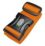 Kofferband I Koffergurt I Gepäckgurt extra lang (250x5cm) mit Sicherheitsverriegelung der Schnalle von BE-HOLD schützt Ihren wertvollen Gepäckinhalt vor Verlust