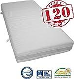 Fairmat XXL Matratze Das Schwergewicht | hochwertige Softschaum Auflage | 7 Zonen Sandwichkern mit Schulterentlastungszone | Silver Protect Doppeltuch Bezug | Höhe 22cm | Härtegrad H4 ab 120kg | Größe 100x200cm