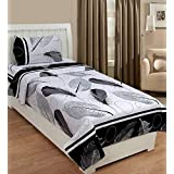 Supreme Home Collective 144 TC Microfiber 1 Single Bed-Sheet With 1 Pillow Cover-Black