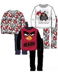Lot de 3 pyjamas ANGRY BIRDS 6/8/10/12 ans
