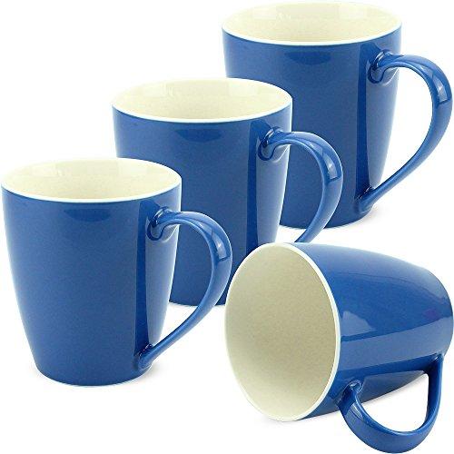 matches21 Tassen Becher Kaffeetassen Kaffeebecher Unifarben / einfarbig blau dunkelblau Porzellan 4...