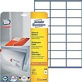 Avery Zweckform 3490 Adressetiketten (A4, Papier matt, 600 Etiketten universal, 70 x 36 mm) 25 Blatt weiß
