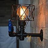 Lamp Wandleuchten aus Eisen der Weinlese industrielle Lichter Wandlampen dekorative Vogelkäfig aus Metall Lichter Stangen Beleuchtung Internet Café
