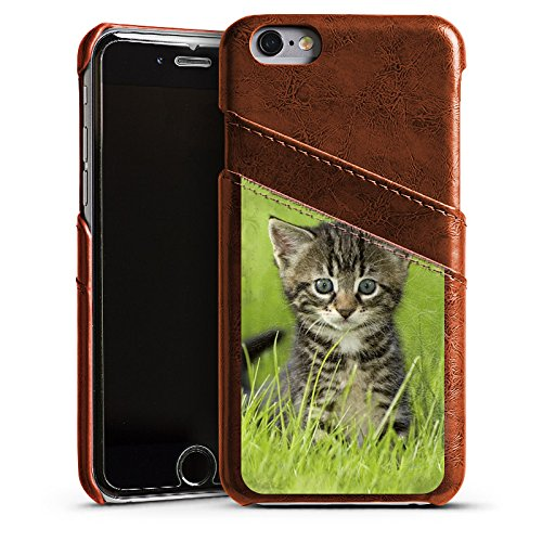 Apple iPhone 3Gs Housse étui coque protection Bébé chat Kitten Chat Étui en cuir marron