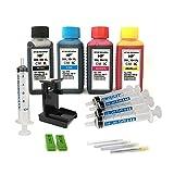 Kit de Recarga para Cartuchos de Tinta HP 304, 304 XL Negro y Color, Tinta de Alta Calidad Incluye Clip y Accesorios