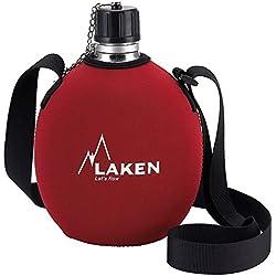 Laken M121582 - Cantimplora aluminio con funda roja