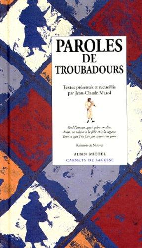 Paroles de troubadours