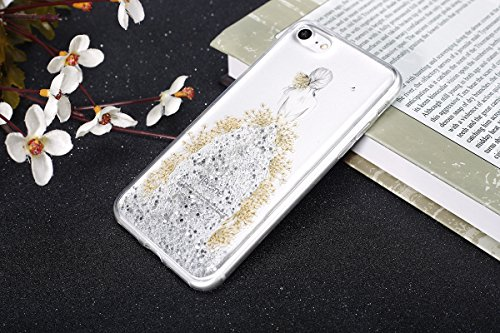 iPhone 7 Hülle,iPhone 7 Silikon Hülle Tasche Handyhülle,SainCat Flamingos Muster Ultra dünne Silikon Hülle Schutzhülle Durchsichtig Hadytasche Stoßfeste TPU Gel Case Bumper Weiche Crystal Kirstall Sil Echt blumen mädchen-Silber