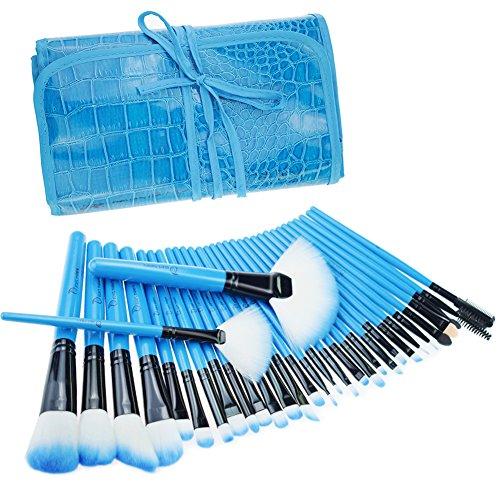 Pinceaux Maquillage , Start Makers 32 Pièces Professionnels pour les Poudres, Anticernes, Contours, Fonds de Teints , Mélanges et Eyeliner