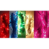 FIZZYTECH Plastic Rice Lights Serial Bulbs Ladi Decoration Lighting for Diwali Christmas(4-5 Mtrs)-Set of 10_Multicolour