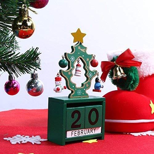 Warmman Lustige Urlaubsparty Dekoartikel Home Decor Hängende Ornamente - Weihnachten 2017 Kalender Weihnachtsschmuck für Zuhause Ornament Kinder weiß - 1 x Weihnachten Holz Kalender