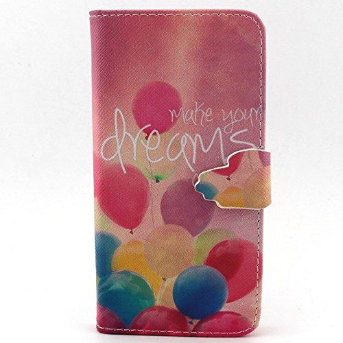 ubmsa-iphone 6(11,9cm) Étui portefeuille à rabat avec support de Crédit Porte-cartes en cuir avec clip ceinture, fermeture magnétique avec fonction de doigts Coque bumper en TPU souple