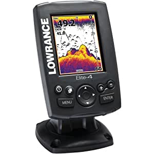 Lowrance Elite-4 blank SD W/XDCR 83/200 Color GPS+Fishfinder