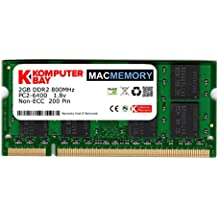Komputerbay 2GB 1X2 800 SODIMM - Memoria RAM para iMac y MacBook (2 GB PC2-6300 800MHz DDR2 )