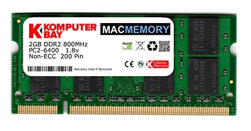 Komputerbay J20 Macmemory Apple Arbeitsspeicher 2GB (PC2-6300, 800MHz, 200-polig) DDR2-SODIMM für Apple iMac und Macbook Speicher