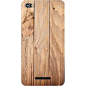 Casotec Wooden Texture Design Hard Back Case Cover for Micromax Canvas Hue 2 A316