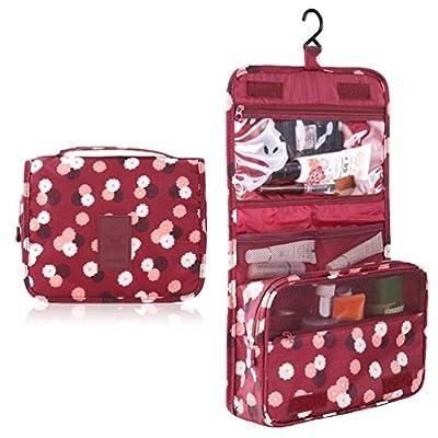 HiDay Hanging Toiletry Organizer Travel Cosmetic Bag with Versatile design