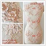 chenkou Craft Ruban Nettoyage de fleur Bauhinia patchs rouge w//Perle D/écoration 40 rose