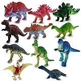 12 x Kunststoff Dinosaurier sortiert Plastikfiguren 7 cm