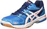 Asics Damen Gel-Rocket 7 Volleyballschuhe, Blau (Blue Jewel/White/Flash Coral), 42.5 EU