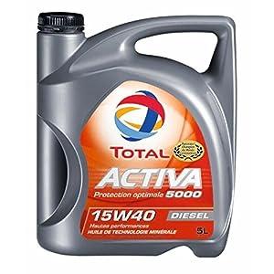 TOTAL 148033 Activa D5000 15W40, 5 L pas cher