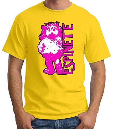 Camiseta Hombre Espinete TV Retro, Amarillo, S