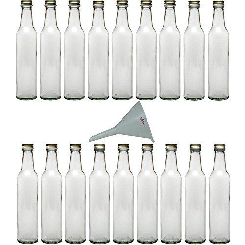 Viva-Haushaltswaren - Botellas de cristal (18 unidades tapón de rosca