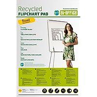 Bi-Office Earth-It Bloc de Papel Reciclado para Pizarra Rotafolios, Euro, 20 Hojas por Bloc, 55 g/m², Paquete de 5 Bloques